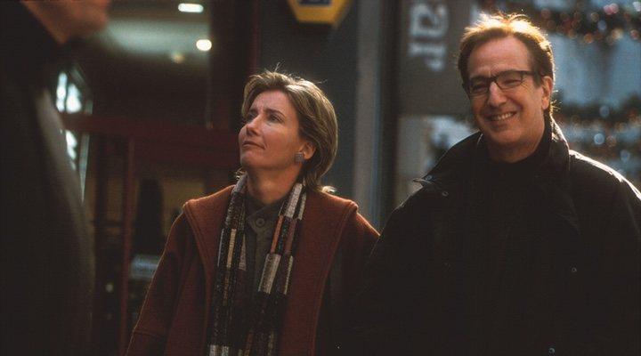 Emma Thompson y Alan Rickman en 'Love Actually'