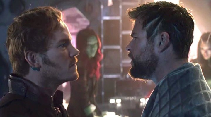 Chris Pratt y Chris Hemsworth en 'Vengadores: Infinity War'