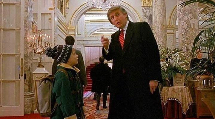 'Cameo Trump Solo en casa 2'