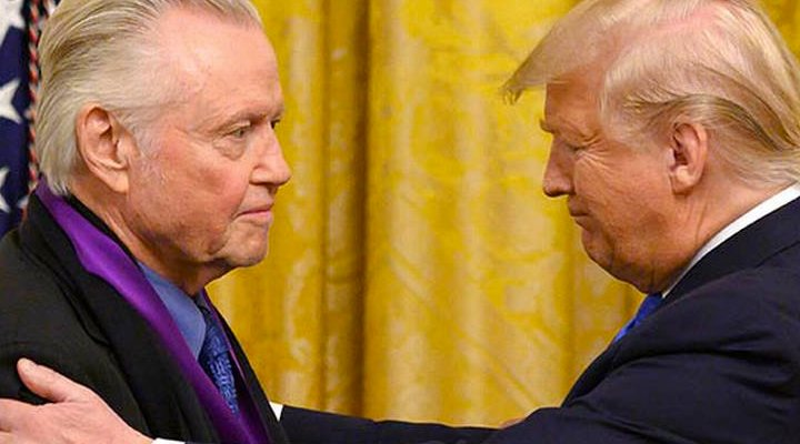 'Jon Voight y Donald Trump'