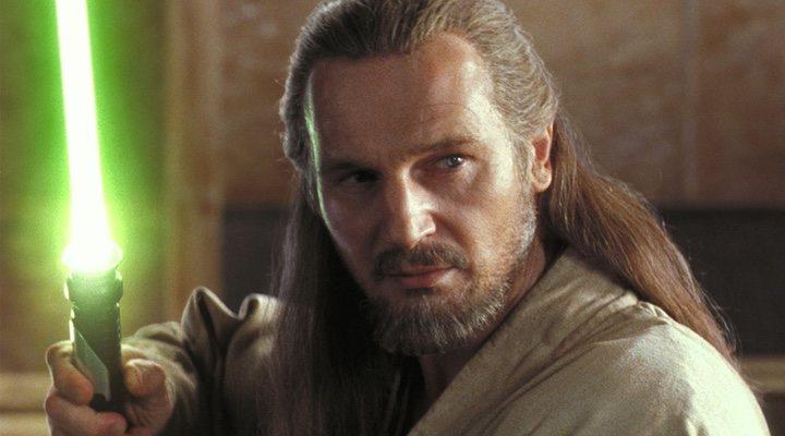 Liam Neeson en 'Star Wars: La amenaza fantasma'