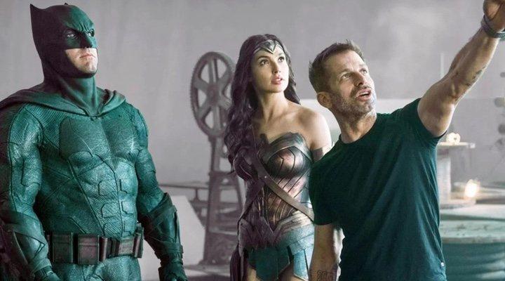 Ben Affleck, Gal Gadot y Zack Snyder