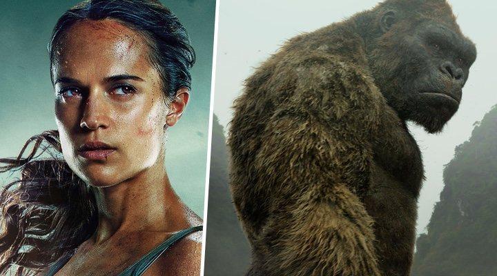 'Tomb Raider' y 'Kong: La isla calavera'