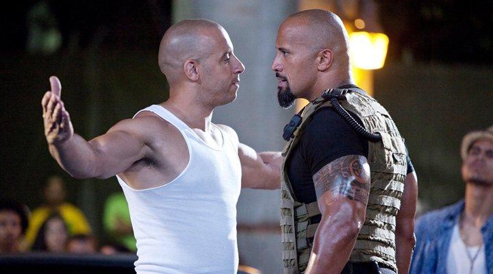 Vin Diesel y Dwayne Johnson en 'Rápidos y furiosos'