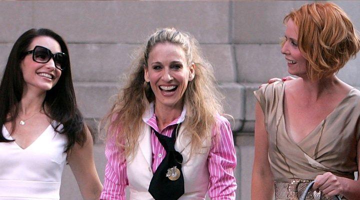 Kristin Davis, Sarah Jessica Parker y Cynthia Nixon en 'Sexo en Nueva York'