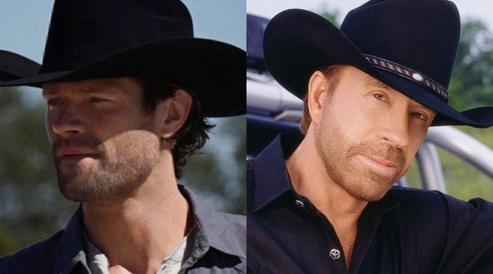 Jared Padalecki y Chuck Norris como 'Walker'