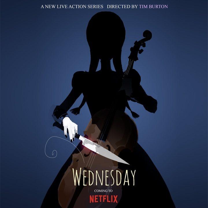 Póster de 'Wednesday', la serie spin-off de 'La Familia Addams'