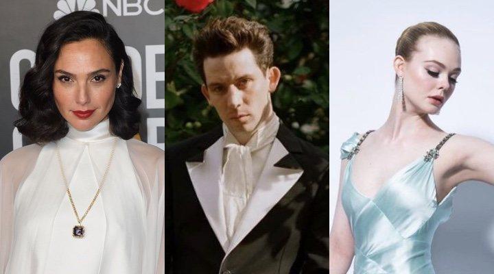 Gal Gadot, Josh O'Connor y Elle Fanning en los Globos de Oro 2021