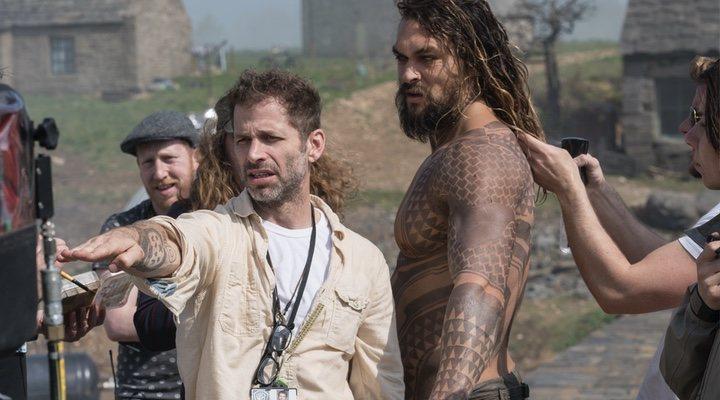 Zack Snyder y Jason Momoa en el rodaje de 'La Liga de la Justicia de Zack Snyder'