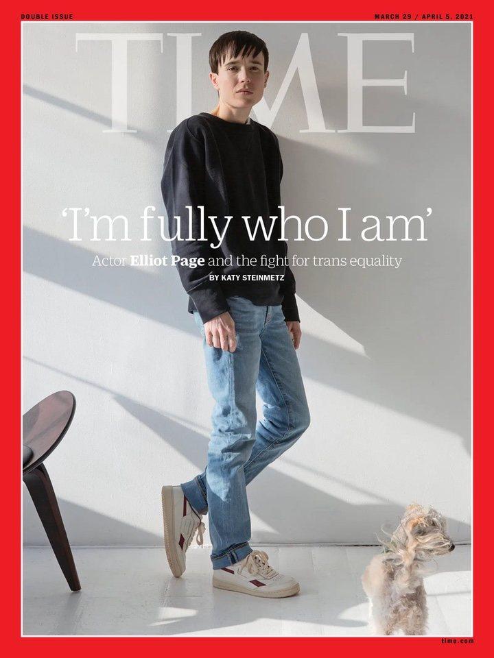 Elliot Page en la portada de la revista Time