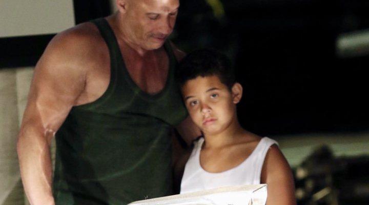 Vin Diesel y su hijo Vincent