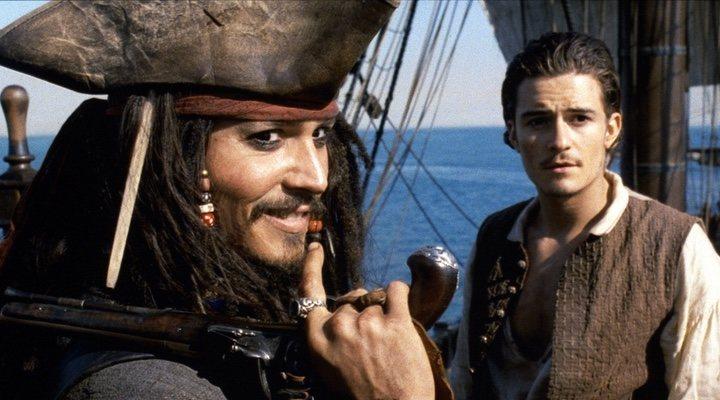 Johnny Depp y Orlando Bloom en 'Piratas del Caribe'