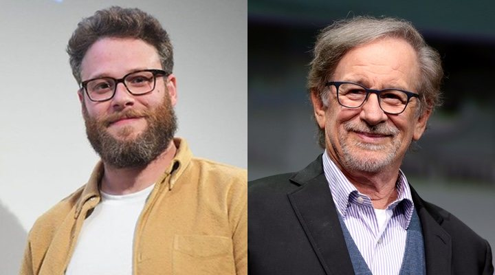 Seth Rogen y Steven Spielberg