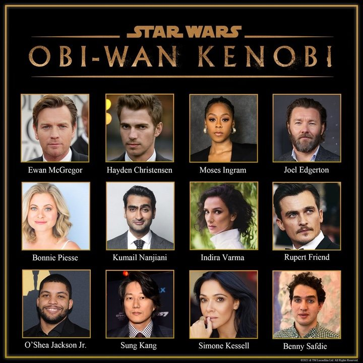 Reparto al completo de la serie 'Obi-Wan Kenobi'