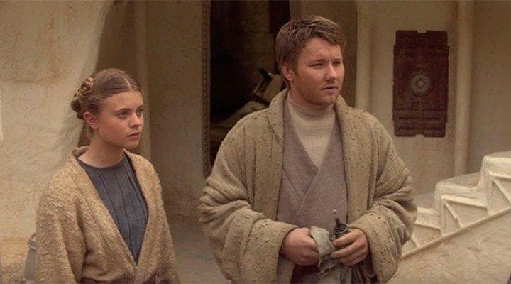 Joel Edgerton y Bonnie Piesse en 'Star Wars: Episodio III - La venganza de los sith'