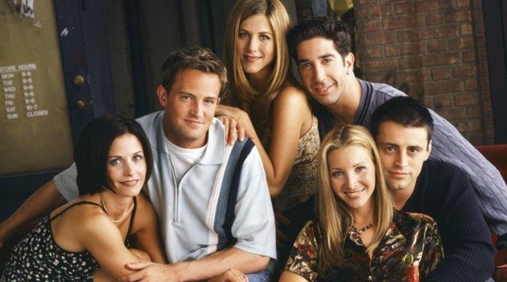 Jennifer Aniston, Courteney Cox, Lisa Kudrow, Matt LeBlanc, Matthew Perry y David Schwimmer en 'Friends'