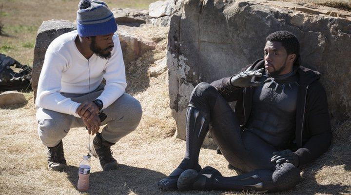Ryan Coogler y Chadwick Boseman en 'Black Panther' (2018)