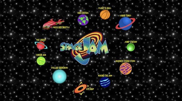 Página web oficial de 'Space Jam' (1996)