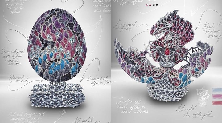 Fabergé egg design from 'Game of Thrones'