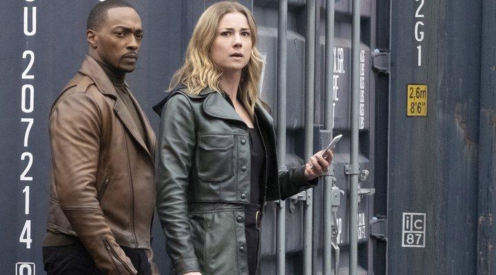 Anthony Mackie y Emily VanCamp en 'Falcon y el Soldado de Invierno'