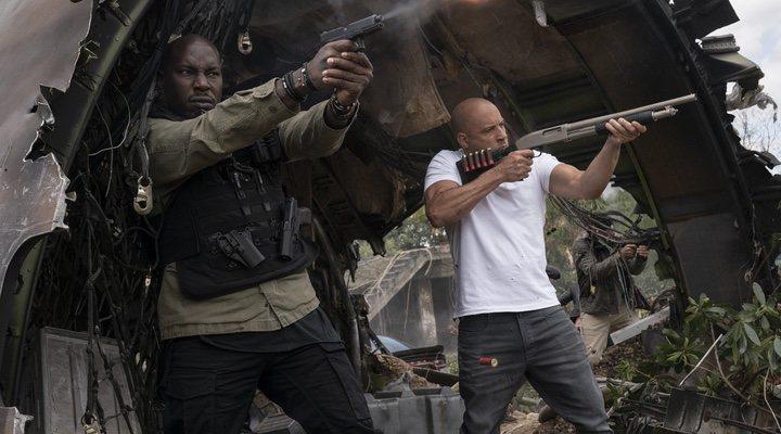 Tyrese Gibson y Vin Diesel en 'Fast & Furious 9' (2021)