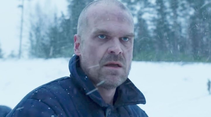 David Harbour en la cuarta temporada de 'Stranger Things'