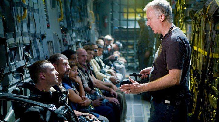 'James Cameron rodando Avatar'