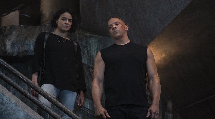 Michelle Rodriguez y Vin Diesel en 'Fast & Furious 9' (2021)