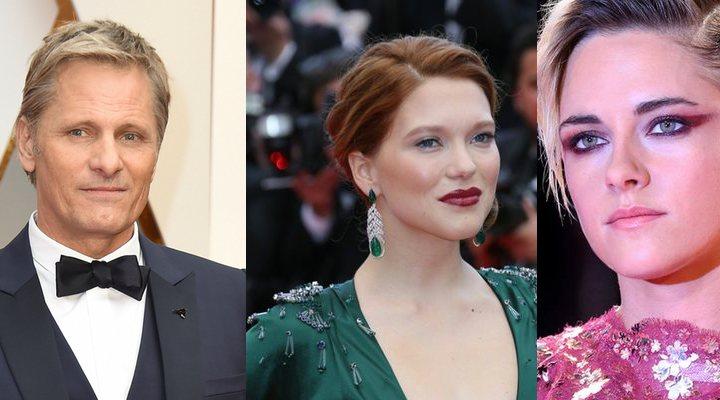 'Viggo Mortensen, Léa Seydoux y Kristen Stewart'