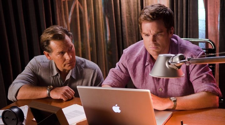 James Remar y Michael C. Hall en 'Dexter'