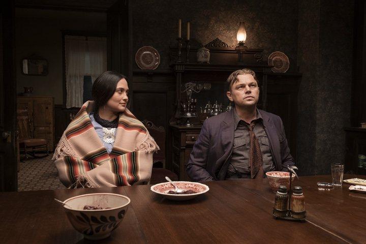 Lily Gladstone y Leonardo DiCaprio en 'Killers of the Flower Moon'