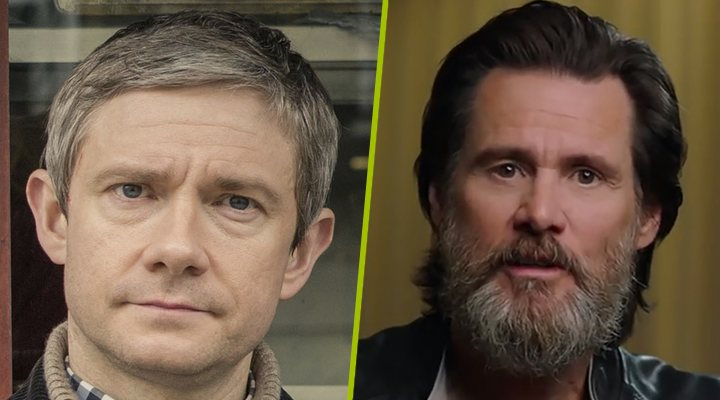 Martin Freeman y Jim Carrey