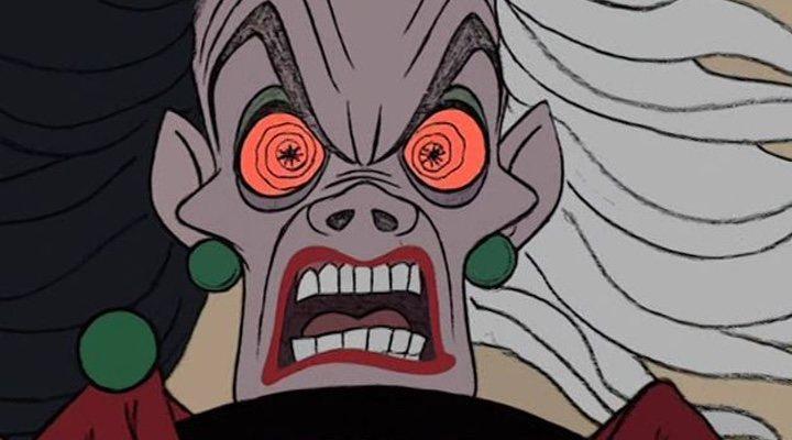 La Cruella de la versión animada de '101 Dálmatas'