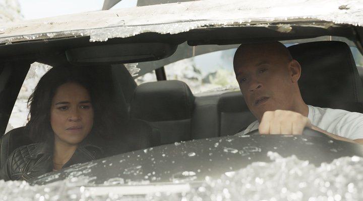Michelle Rodriguez y Vin Diesel en 'Rápidos y furiosos 9'