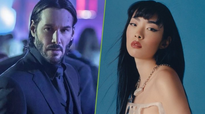Keanu Reeves y la coprotagonista de 'John Wick 4', Rina Sawayama