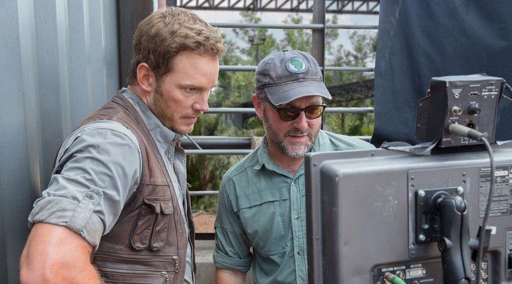 Chris Pratt con Colin Trevorrow