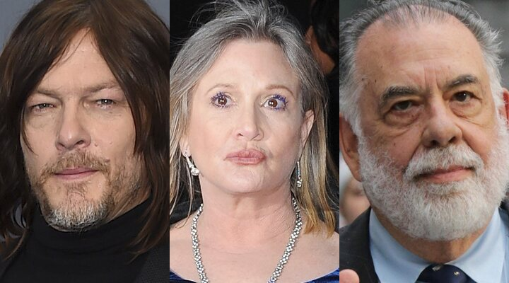 Norman Reedus, Carrie Fisher y Francis Ford Coppola