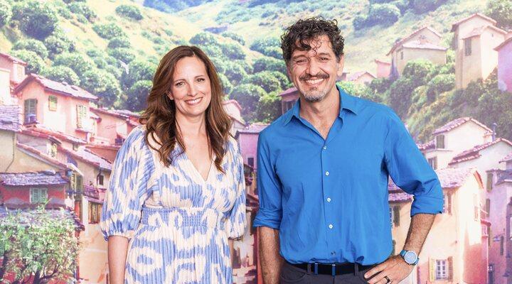 Andrea Warren y Enrico Casarosa, productora y director de 'Luca'