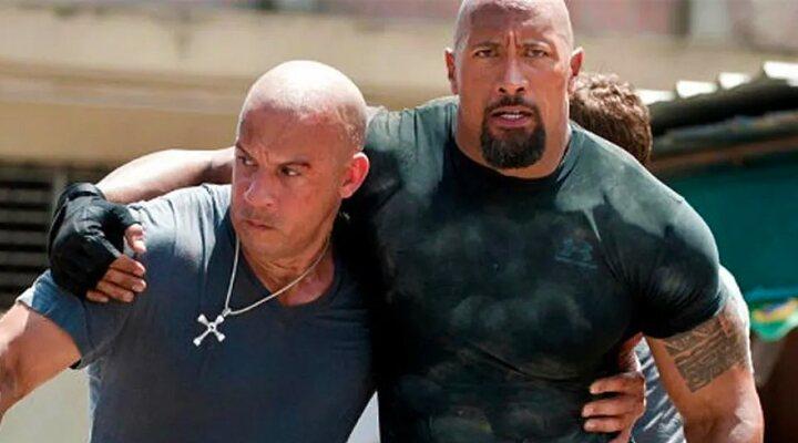 Vin Diesel y Dwayne Johnson en la saga 'Fast & Furious'