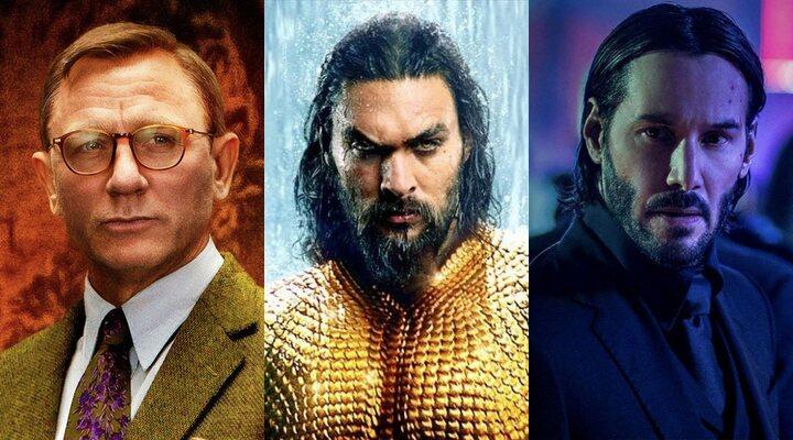 Daniel Craig, Jason Momoa y Keanu Reeves