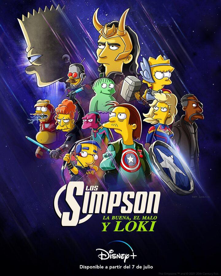 Póster de 'Los Simpson: La buena, el malo y Loki'
