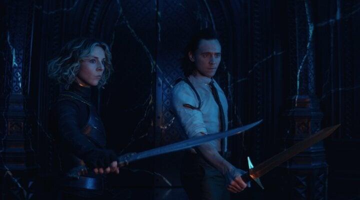 Sophia di Martino y Tom Hiddleston en el final de 'Loki'