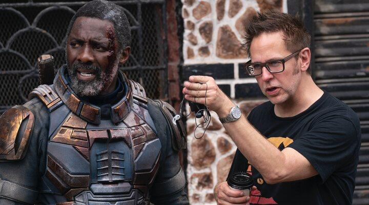 Idris Elba y James Gunn en el rodaje de 'El Escuadrón Suicida'