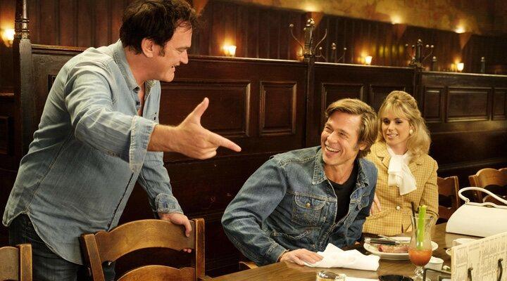 Quentin Tarantino dirigiendo una escena de 'Érase una vez en... Hollywood'
