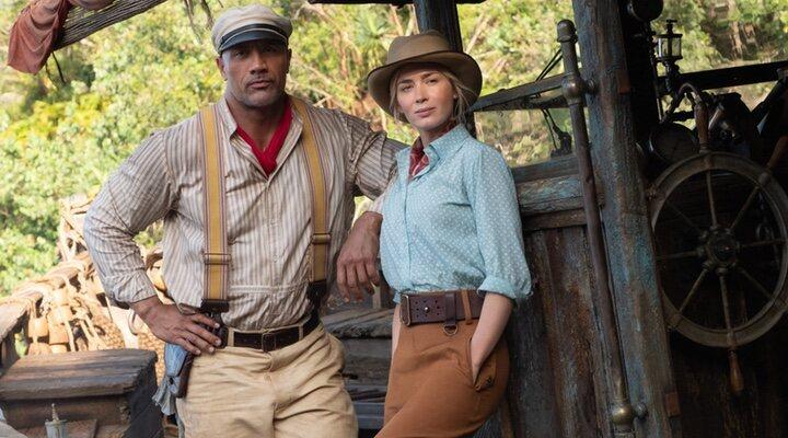 Dwayne Johnson y Emily Blunt en 'Jungle Cruise'