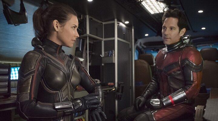 Evangeline Lilly y Paul Rudd en 'Ant-Man 2'