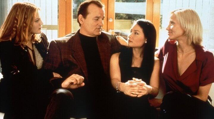 Drew Barrymore, Bill Murray, Lucy Liu y Cameron Diaz en 'Los ángeles de Charlie' (2000)