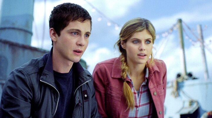 Logan Lerman y Alexandra Daddario en 'Percy Jackson'