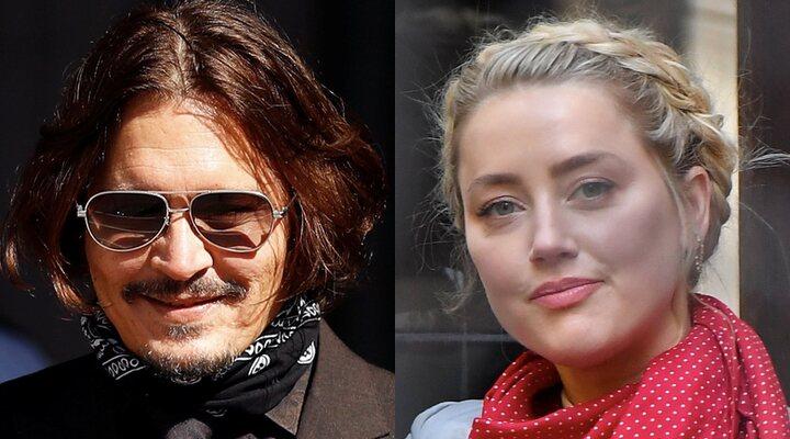 Johnny Depp y Amber Heard en Londres, en el juicio contra The Sun