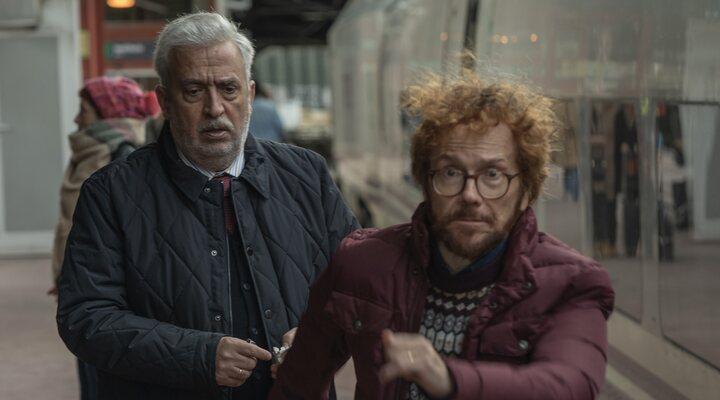 Leo Harlem y Santiago Segura en '¡A todo tren! Destino Asturias'